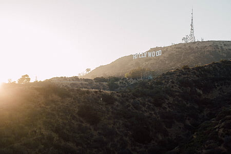 california, daylight, hollywood, los angeles, mountain, sign, sunrise
