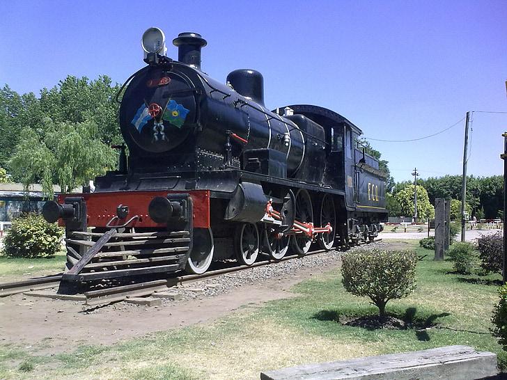 tåg, lokomotiv, gamla, järnväg, Vias, järnvägsspåren, museet