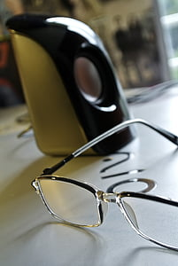 eyeglasses, eyewear, laptop, macro