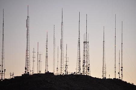 타워, 라디오 타워, 송신 탑, 높은, tv 타워, 피닉스