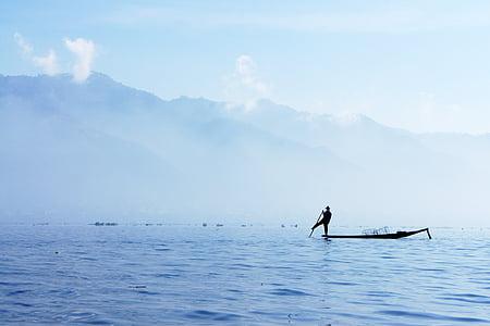 fischer, single-leg-rowers, single leg fischer, rowing, myanmar, fish, inlesee