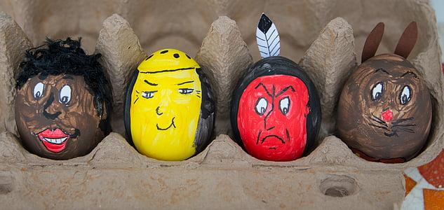 부활절 달걀, 부활절, 달걀, 페인트, 사용자 지정, 다채로운, 색