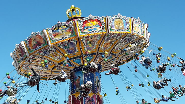 chain carousel, oktoberfest, spring festival, fair, year market, dom, carousel