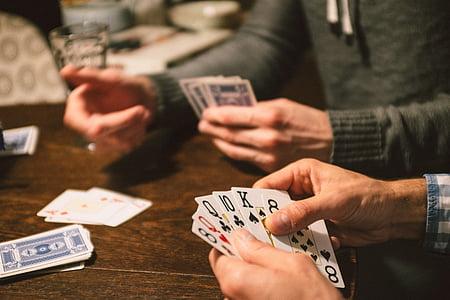 személy, gazdaság, játék, kártya, kéz, magyar kártya, kártyajáték