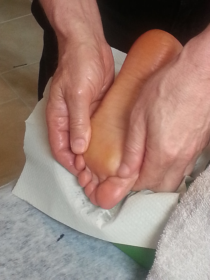 masāža, pēda, kājām, Spa, terapija, ārstēšana, cilvēka roku