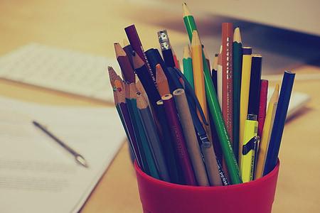 bút chì, bút, văn phòng phẩm, văn phòng, Bàn, kinh doanh, giấy tờ