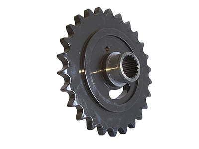 pignone, Gear, meccanica, parte della macchina, in acciaio, metallo, industria