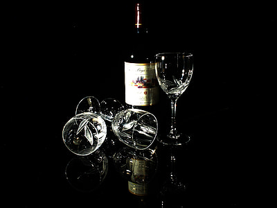 glas, wijn, rode wijn, Stilleven, Crystal, alcohol, drankje