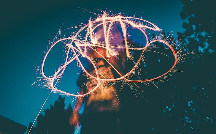 māksla, gaiša, plaukšķene, gaisma, persona, vienai personai, tikai viena sieviete
