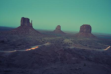 Colorado Plateau, land, landscape, sand, sky, desert, monument Valley