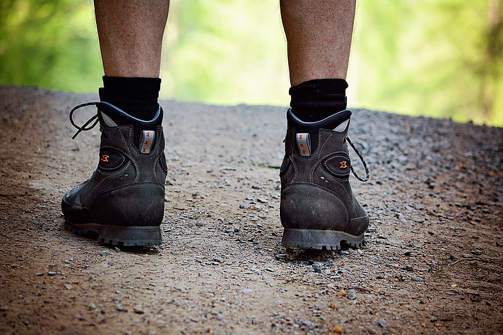 sabates, botes de senderisme, peus d'home, cames d'home, peus, distància, Senderisme