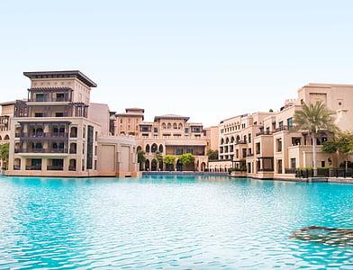 mimari, Bina, otel, Resort, Yüzme Havuzu, tatil, su