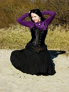Žena, Gotická, Děvče, model