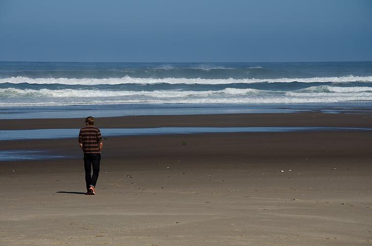 Beach, emotsioon, Sea, ja inimene, tunne, taevas, purustada