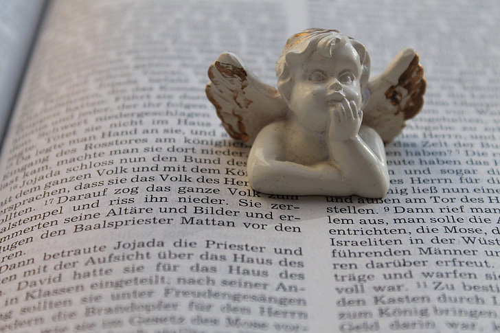 도 서, 성경, 천사, 묵 주, 기독교, 거룩한 책, 종교