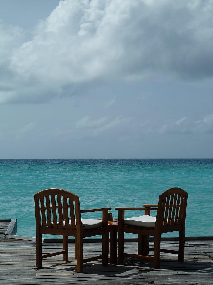 zee, water, strand, rest, relaxen, Oceaan, stemming