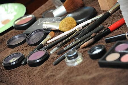 化妆, 美, 脸上, 时尚, 魅力, 美容产品, 化妆