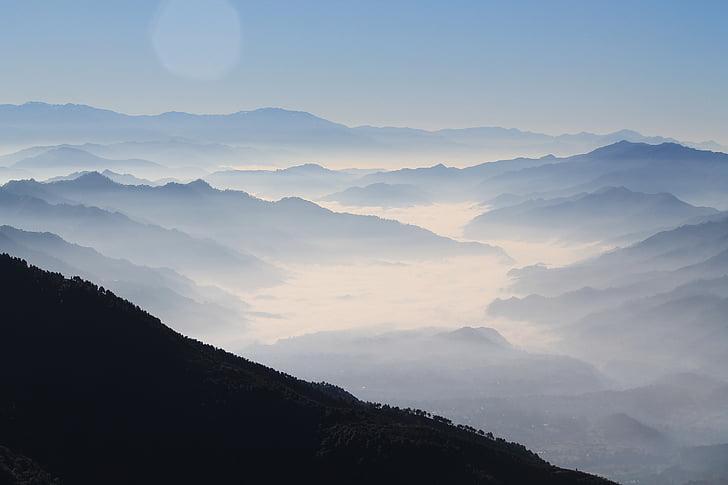 boira, paisatge, boira, Serra, muntanyes, natura, escèniques
