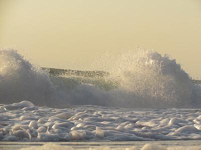 ola, Océano, mar, agua, olas del océano, azul, naturaleza