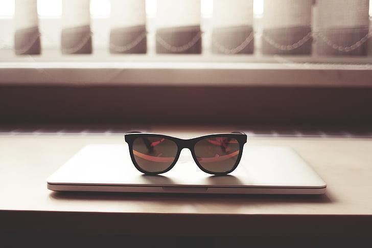 briller, Mac book, computer, Office, arbejdspladsen, hipster, inspiration