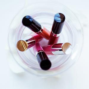 čine, ruž za usne, boja, kozmetika, usne, sjaj, roza