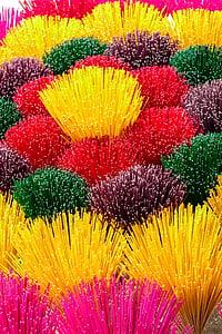 Vietnam, füstölő, színes, multi-színes, piros