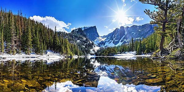 paisatge, escèniques, l'aigua, reflexió, calma, tranquil, Llac de somni