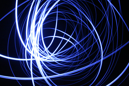 light, drawing with light, blue, lines, lights, circles