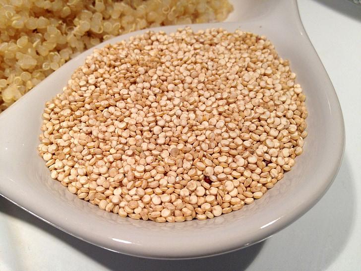 Quinoa, зърно, семена, храна, здрави, вегетариански, хранене