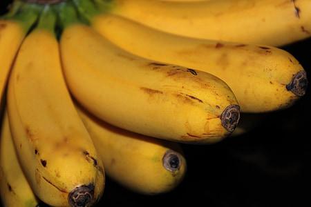 ώριμη μπανάνα, Μπανάνα, φλούδα, φλούδα μπανάνας, φρούτα, ζουμερά, τροφίμων