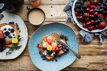 voće, hrana, desert, slastice, kruh, doručak, užina