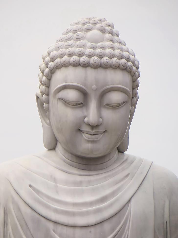 Камбоджа, религия, Буда, спокойствие, усмивка, Статуята, главата