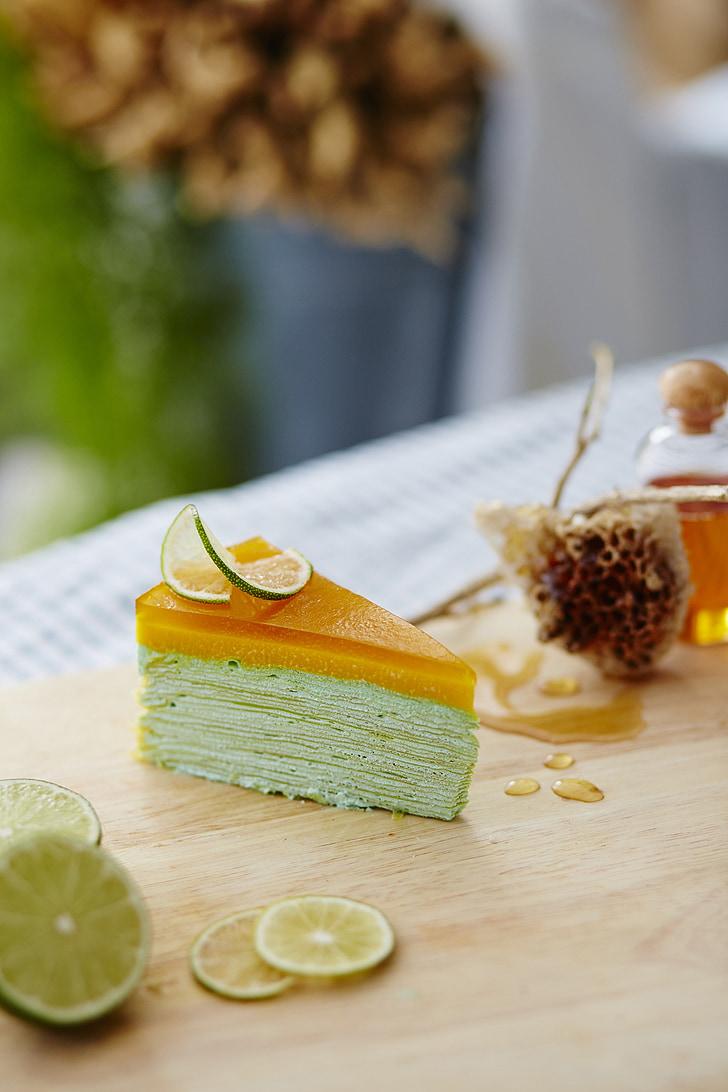dolci, torta, regalo, dessert, miele, limone, calce