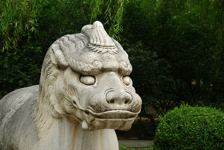 china, pekin, ming tomb, statue, sculpture, mythology
