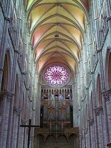 Amiens, França, Notre-dame, Catedral, arquitectura, vitralls, l'església