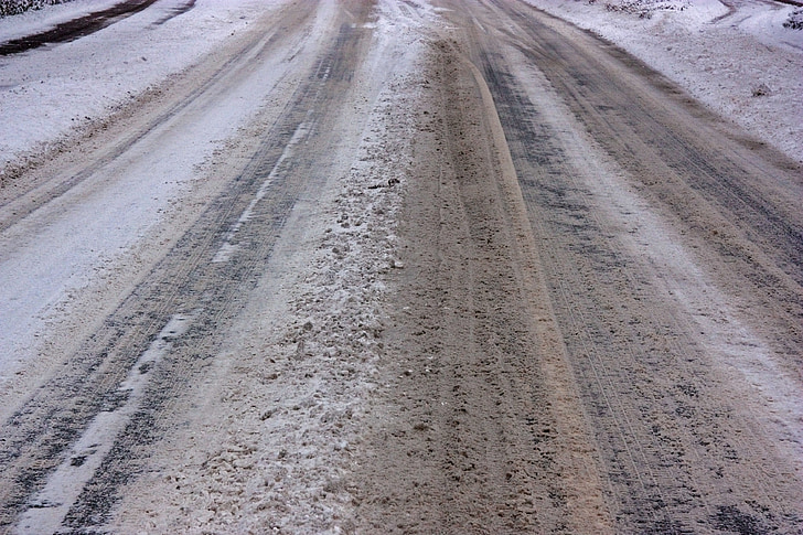 jäisellä tiellä, lumi tasaisuus, loska, talvi, Road, tiesuola, ruts