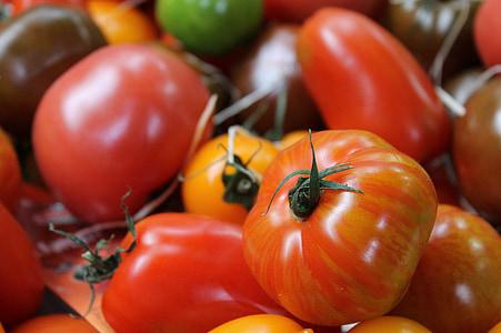 tomaten, tomaat, groenten, plantaardige, rood, voedsel, versheid