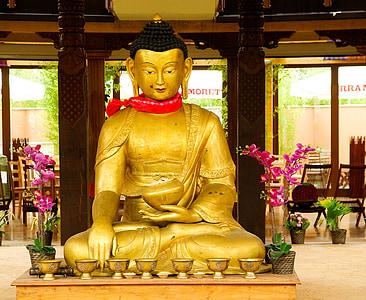 Buddha, vallás, szobor, Nepál, Ázsia, buddhizmus, templom - épület
