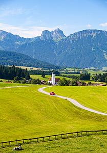 Allgäu, Ostallgäu, Bajorország, hegyek, alpesi, hegység, Eisenberg