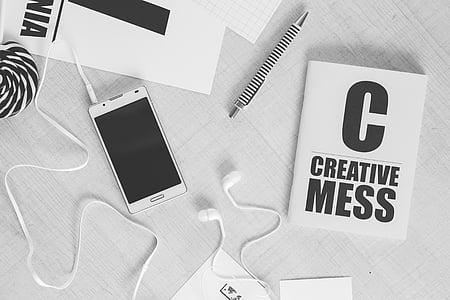 creative, work, mockup, business, office, computer, technology