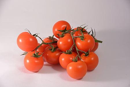tomaten, rood, eten, voedsel, moestuin, tomaat rood, vitaminen