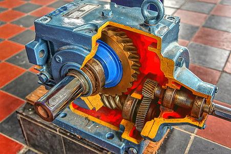 industria, artigianato, ingranaggi, meccanica, metallo, tecnica, macchina