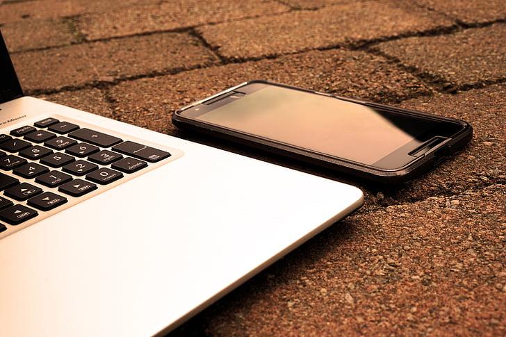 počítač, telefón, laptop, Office, Práca, z domova, smartphone