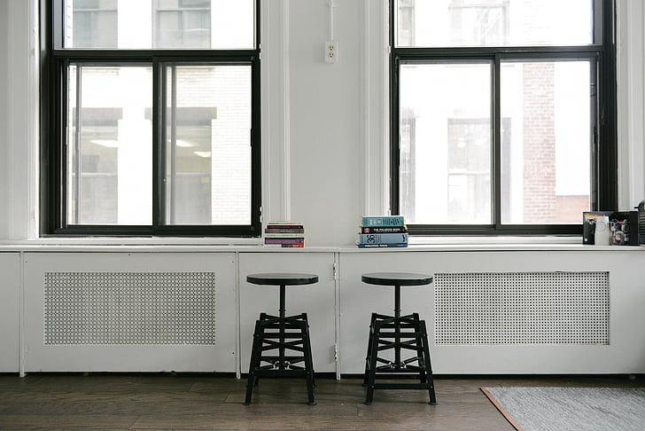llibres, l'interior, tamborets, Windows, finestra, Habitació interior, taula