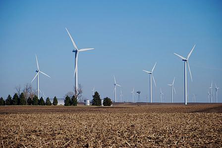 çiftlik, Rüzgar makineleri, Rüzgar türbinleri, enerji, yel değirmenleri, yel değirmeni, Yeşil