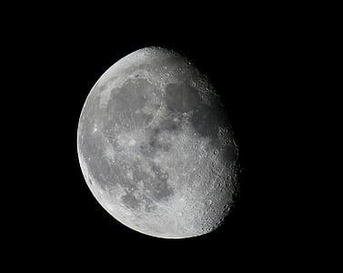 Lluna, nit, cel, l'astronomia, espai, llum de lluna, univers
