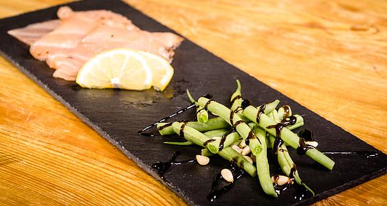 cá hồi, hạt cà phê, thực phẩm, thực vật, Hải sản, phi lê, nấu chín