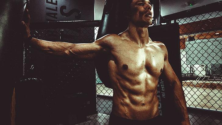 fitnesa, organizācija, ķermeņa būvēt, vīrietis, seksīgs, seši pack, labā stāvoklī