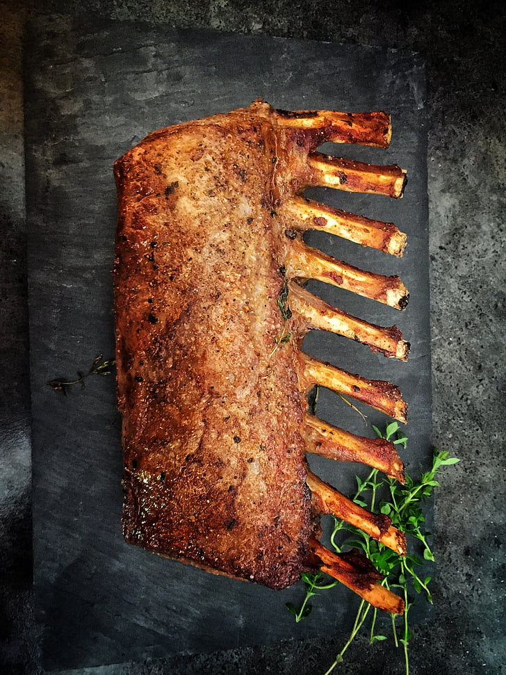 lamm, Cook, kött, mat, köket, Rostbiff, grillen