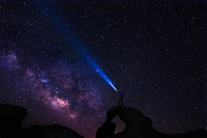 Foto Gratis Komet Berbintang Malam Bintang Senter Langit Malam Musik Hippopx